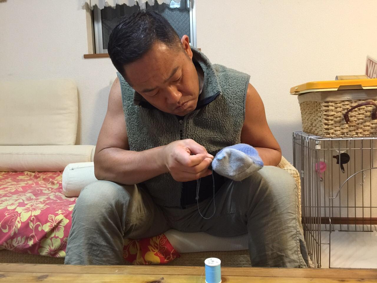 直したぜ〜!手縫い好きかも!