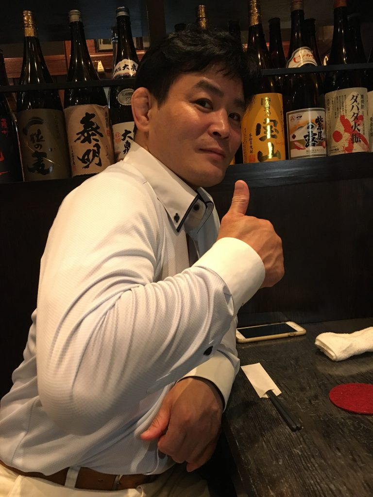 技の入り方など、たくさん教えて頂いた。内村直也先生。