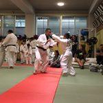 光明学園にて近隣地区小学生の柔道合同練習があり、次男と参加。