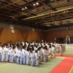 相模原市の柔道大会。県央地区を中心に集まり、頑張りました。