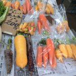 【鎌倉市農協連即売所】に立寄り、鎌倉野菜を購入。根菜が好き!