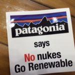 """意識 大切な事。""""Says No nukes Go Renewable"""""""