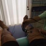 靭帯痛い。慌てて、超音波治療。これ、抜群に効きます。