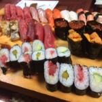 大好きなお寿司を食べて、リセットや。 新たに弾けてやるぞ、俺は(笑)