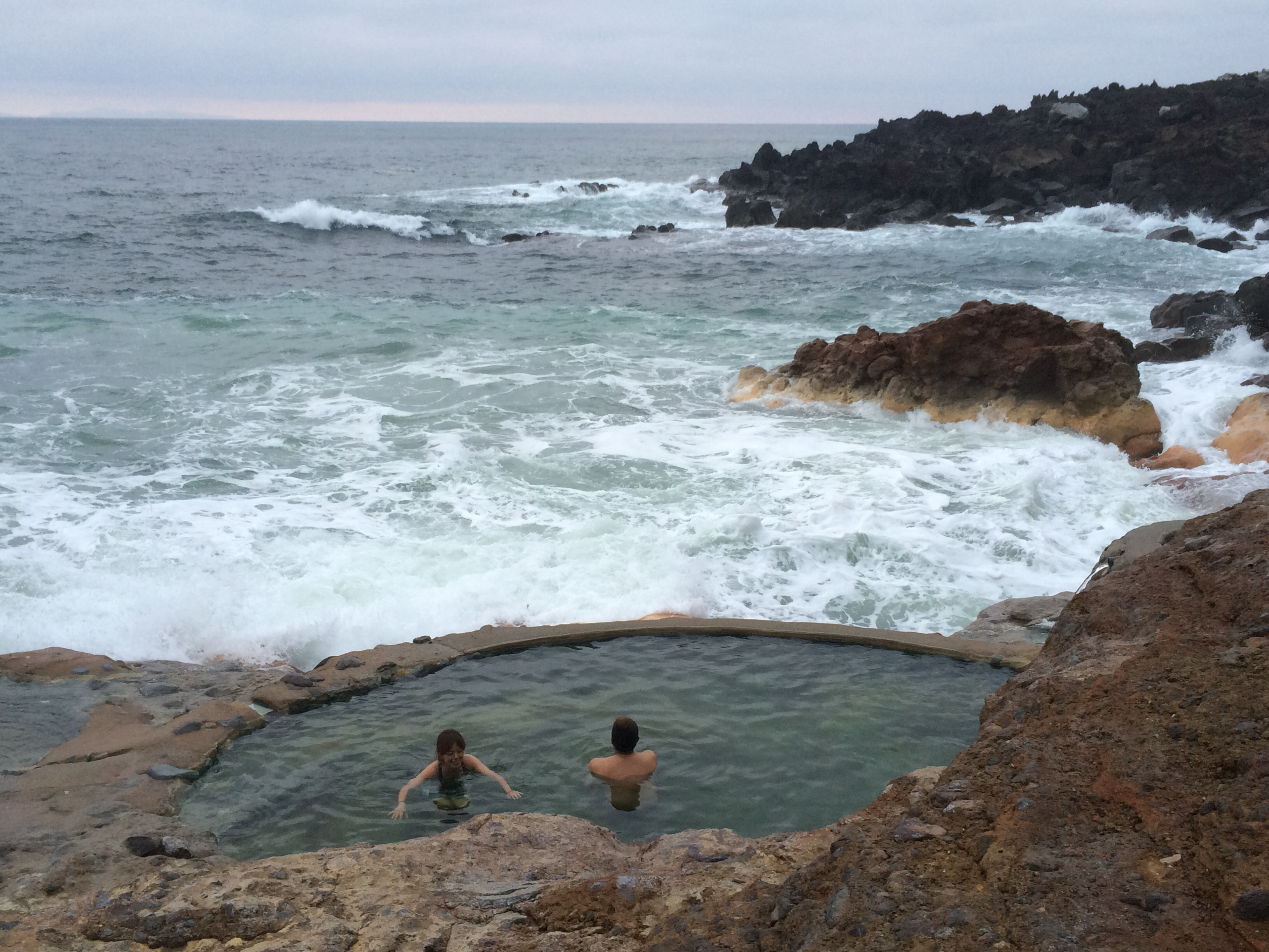 """薩南諸島三島村""""硫黄島""""での秘湯、天然温泉!を楽しんで来ました。"""
