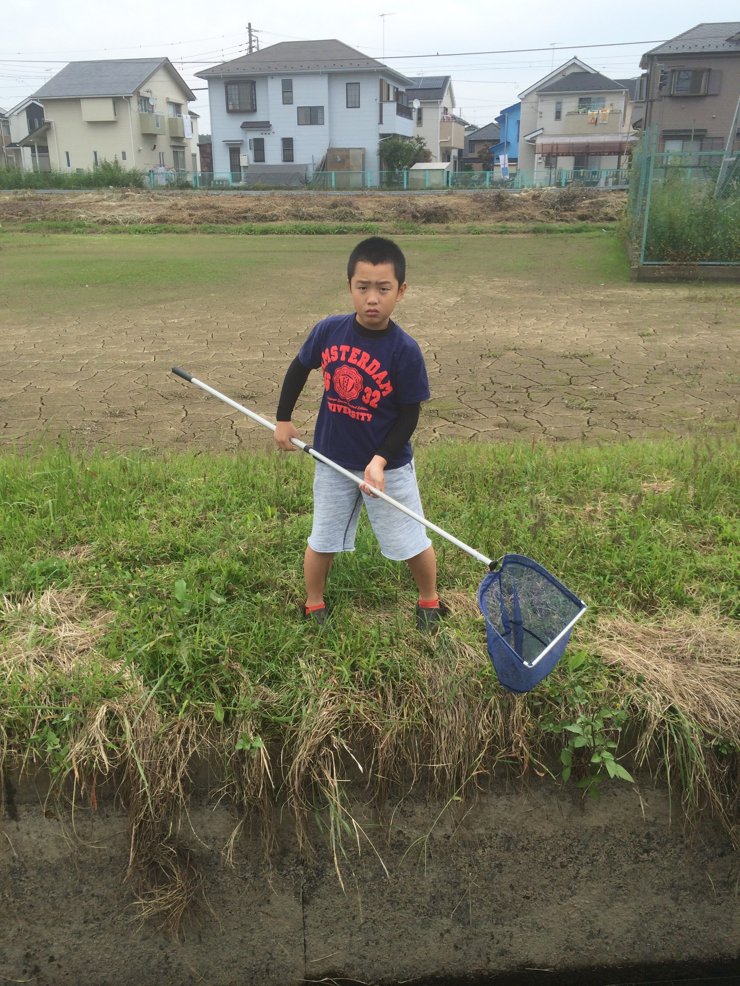 座間の自宅近所でガサガサ!相模川水系で親子で楽しむ!
