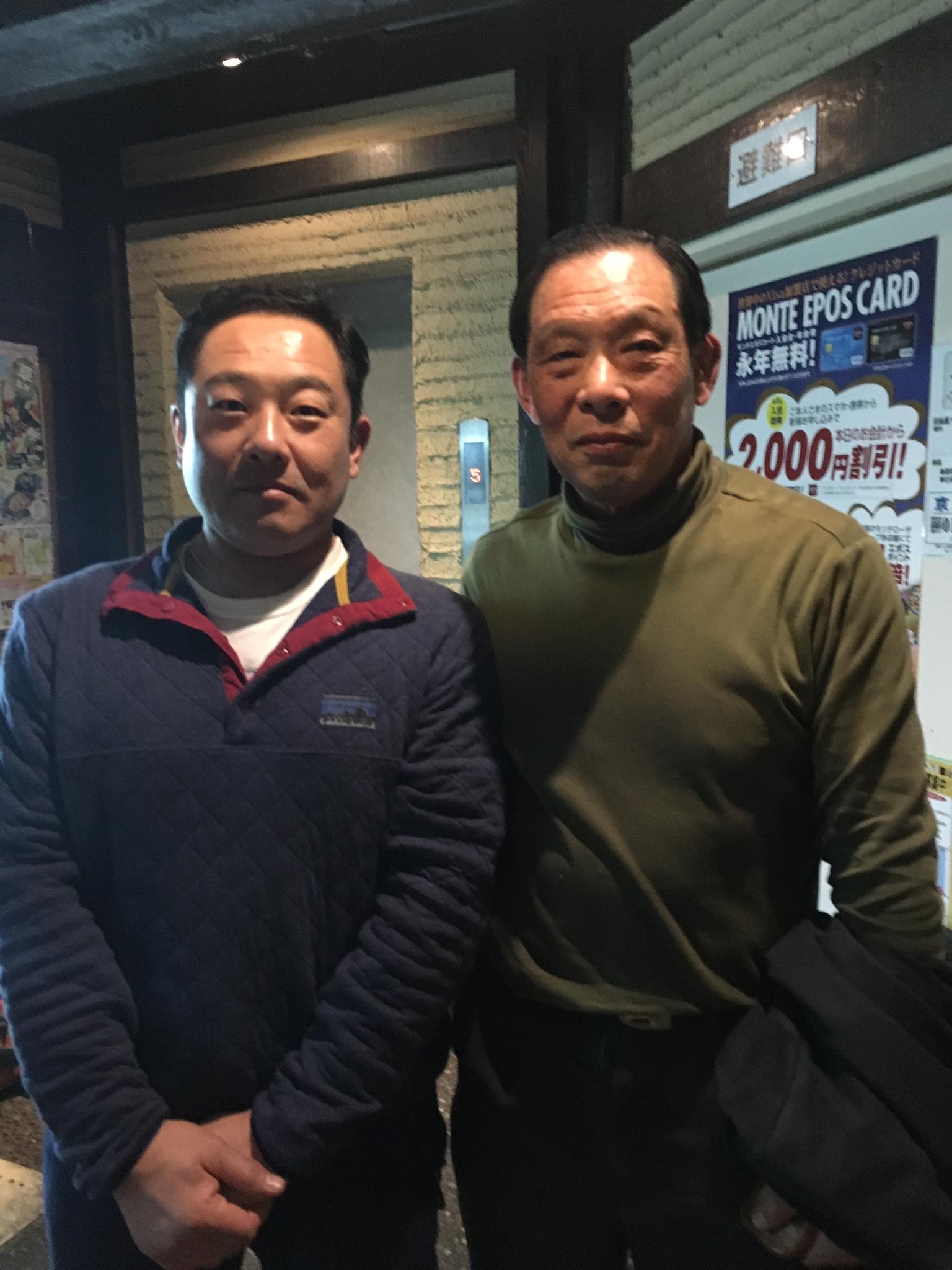 京都学園大学監督と、夕食