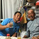【チャーマス】北村秀行さんと「スポーツザウルス」話し。余市の宿で晩御飯。