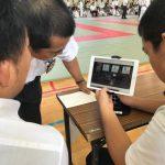 【第8回 伊志田杯中学生柔道大会】決勝審判に選出。緊張した審判でした。