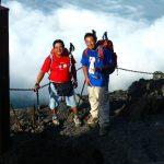 【2010年9月3日】富士山登頂。沖縄より石川幸次君と達成❗️「吉田ルート」。