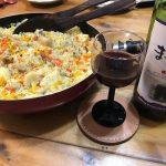 【たまにはイタリアン。パスタにワインにパエリアだ‼️】見様見真似なオヤジ料理。