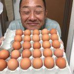 【タマゴ先輩、健在‼️】宮崎地鶏卵は濃厚な黄身。至福の時、です。