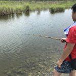 【相模川で次男と夏休み】親子でガサガサチェックと魚釣り。会話の大切さ。