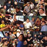 【炎の乱取り夜祭り】町田の道場で、近隣地区柔道繋がりの指導者と乱取り懇親会。