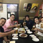 【JR西八王子駅17:50】今夜はステーキ、アルコールもたっぷりな柔道談義会。