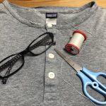 【縫もの楽し。でも見えない…】《デイリー・ヘンリー》ロングTシャツ補修中‼️