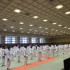 【神奈川県県央地区中学生柔道大会】今度は道場生の試合に審判でお手伝い。